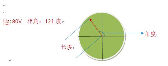三角形接线相电压向量图