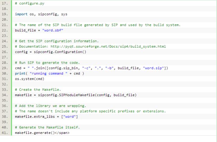 Qt5下Sip封装C++给Python使用的方法教程